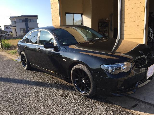 BMW745i 車高調整サスペンション取り付け